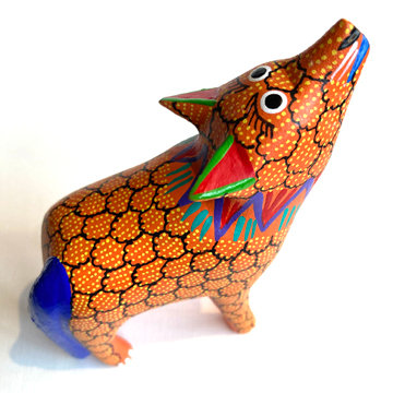 OAXACAN COYOTE CARVING