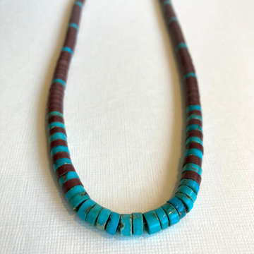 PIPESTONE & TURQUOISE NECKLACE