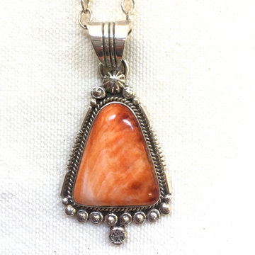Spiny Oyster Shell Pendant