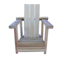 Small Natural Adirondack Wooden Chair