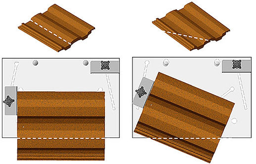 cutting roof tiles