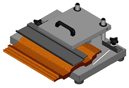 cutting roof tiles with a disc cutter