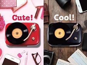 レトロ&キュートなレコード型スピーカー