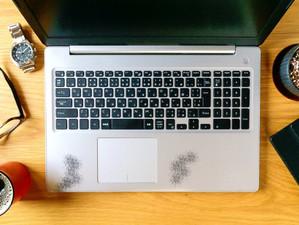 ノートPCのパームレスト汗対策