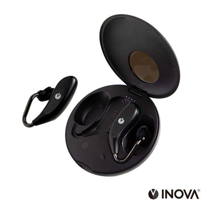 INOVA(earFit Novi) オープン型 TWSイヤホン ワイヤレスイヤホン Bluetooth5.0 IP67 防水 AAC 自動ペアリング 左右分離型 音量調整 充電ケース 音声アシスト 3R SYSTEMS ブラック