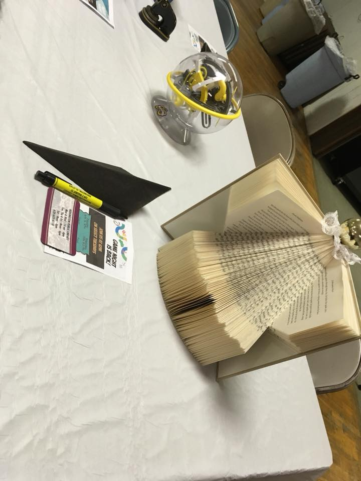 Hoisington Public Library Table Centerpiece