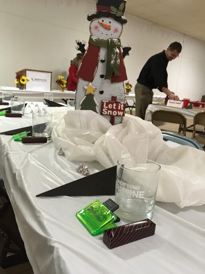 Great Bend Tribune Table Centerpiece