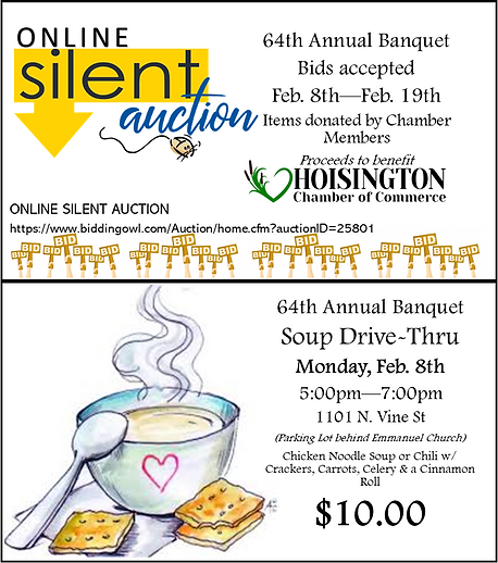 Online Silent Auction and Soup Drive for