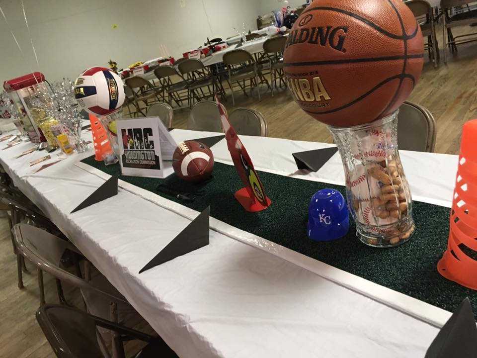 Hoisington Recreation Center Table Centerpiece