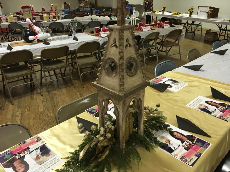 Clara Barton Table Center Piece