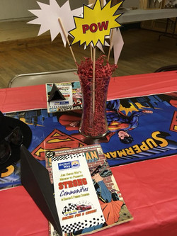 United Way Table Centerpiece