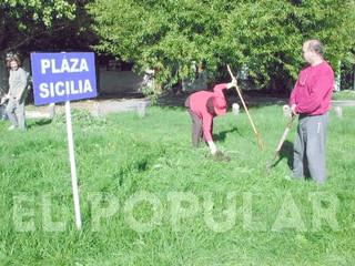 Aniversario de la plazoleta Sicilia