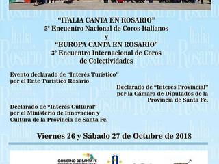 Italia Canta en Rosario 5° Encuentro Nacional de Coros Italianos (2018)