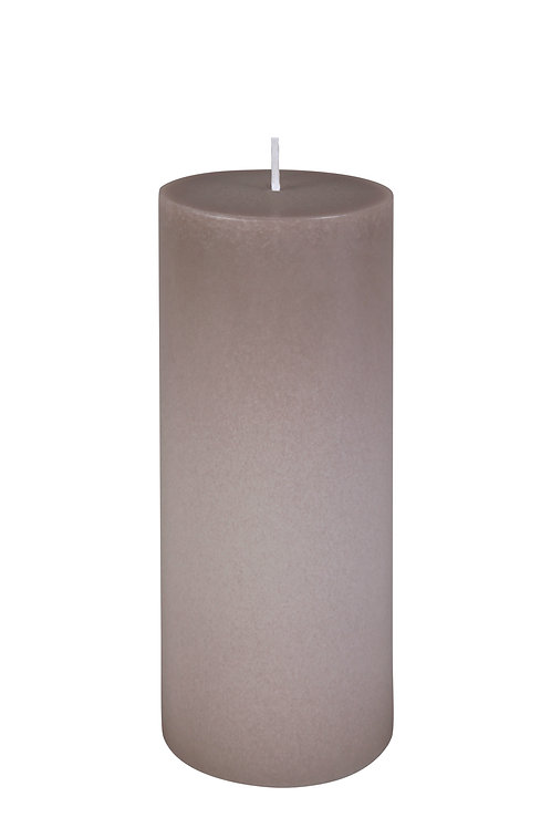 BOUGIE Cylindre TAUPE 20 cm