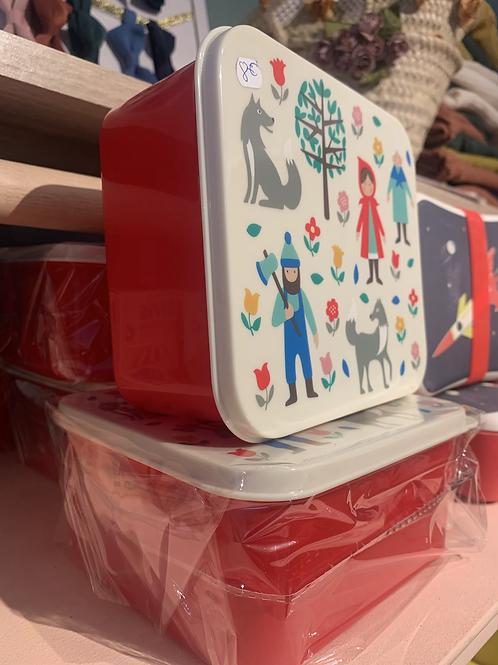 Boîte petit chaperon rouge