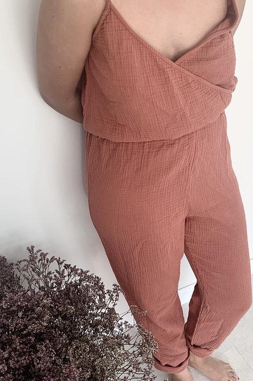 Combi-pantalon Femme double gazeTERRACOTTA