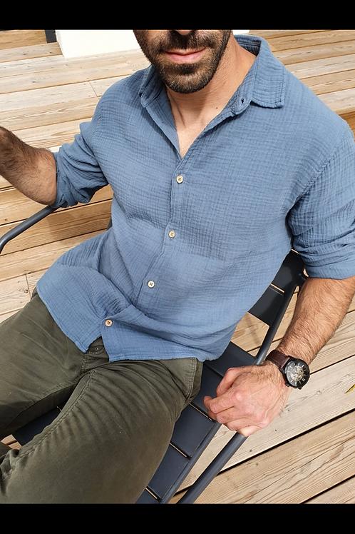 Chemise homme DIEGO colori bleu ciel