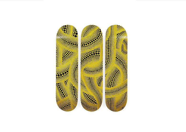 草間彌生 × MoMA Design Store《 Yellow Trees Skateboard 》