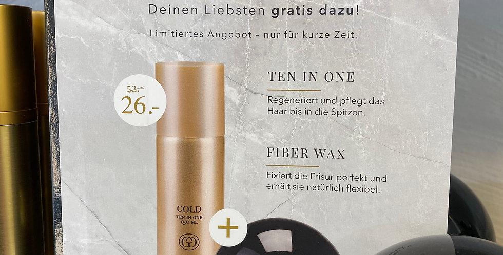 Gold Ten in One /  Fiber Wax Set