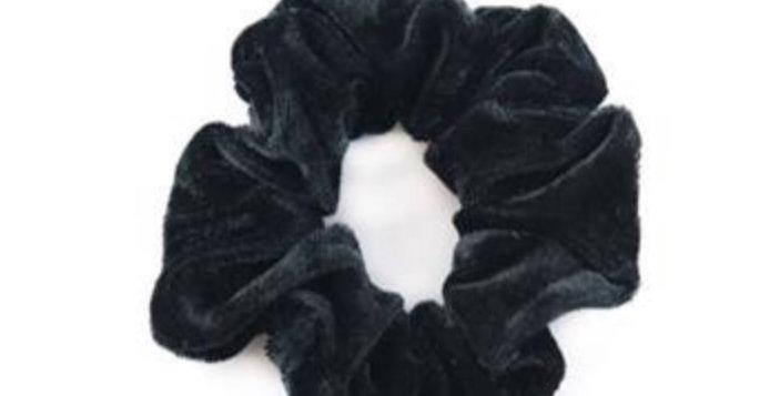 Scrunchie schwarz Samt