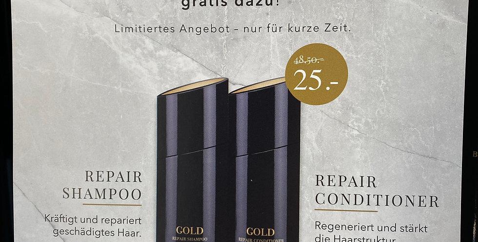 Gold Repair Conditioner & Shampoo Set