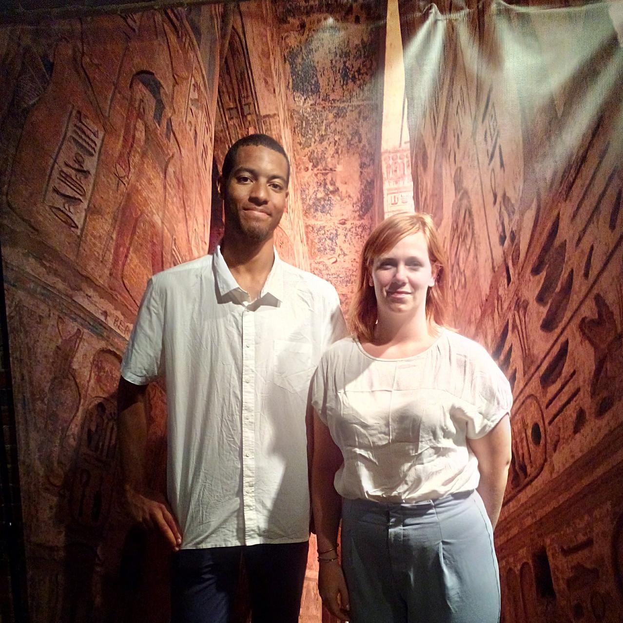 Belgium Visitors, Shasia Delbergue and Kabeya Gadue
