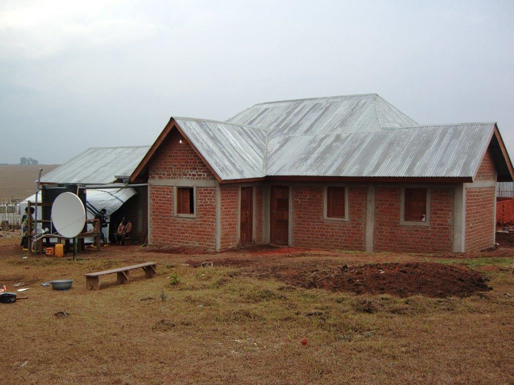 Itombwe Center - Backside showing Satellite Dish and Water Holding Tank