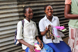 Adolescent girls so happy with kits