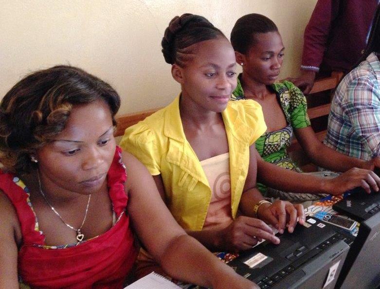 Girl Ambassadors online at the Bukavu Center
