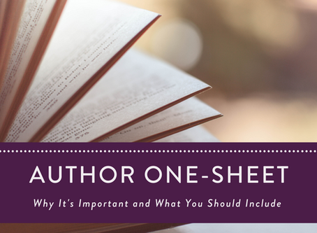 Your Author One-Sheet: Why It's Important and What You Should Include
