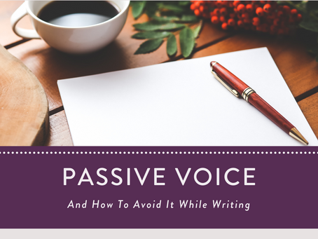Avoid Using The Passive Voice While Writing