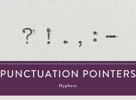 Punctuation Pointers: Hyphens