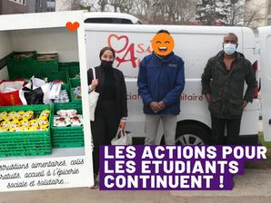 Nos actions en faveur des étudiants continuent ! ❤