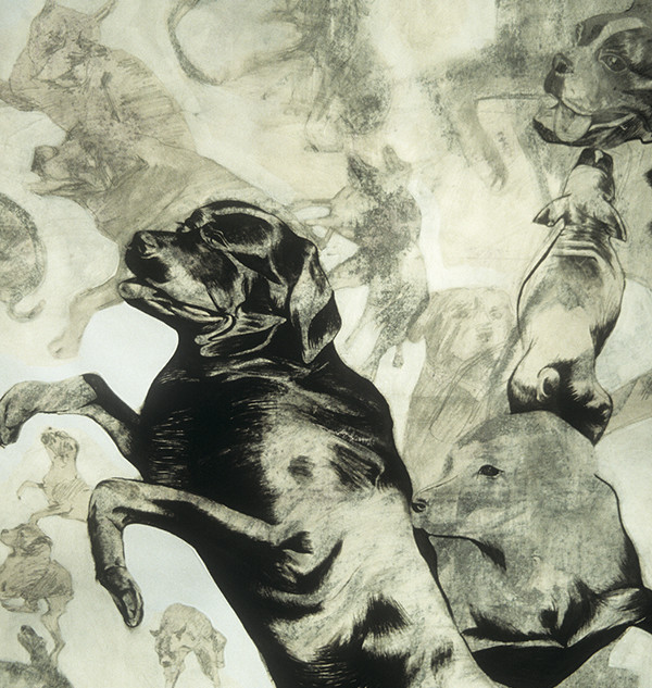 Rottweilers, Whippets And Boxers Going To Heaven (detail)