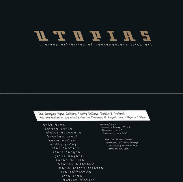 'UTOPIAS' Exhibition Invitation
