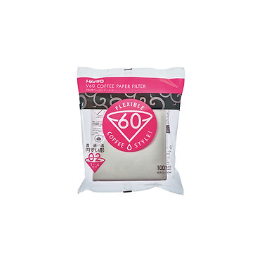 HARIO V60 2 CUP FILTER PAPERS 100PK
