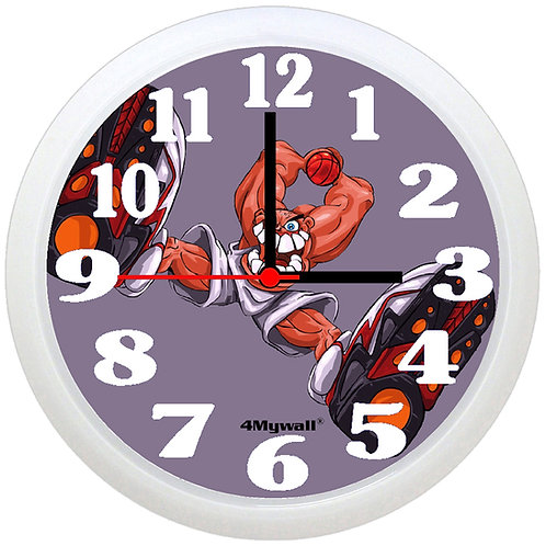 Basketball player wall clock