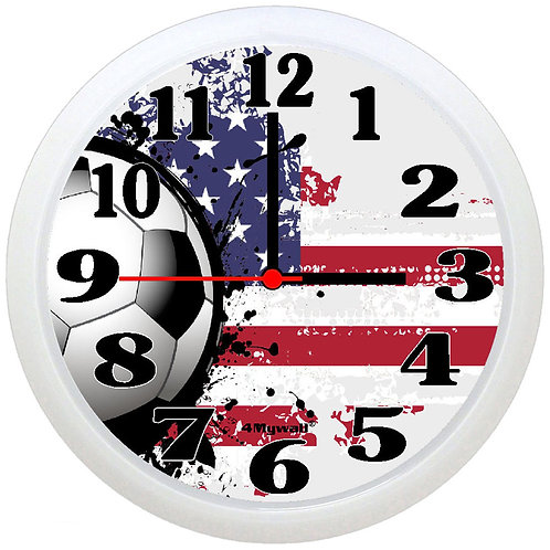 USA football wall clock.