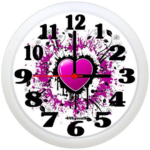 Purple heart wall clock