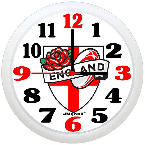 England Rugby wall clock