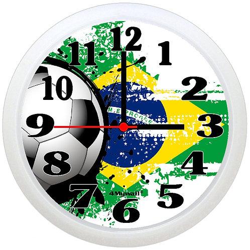 Brazil Football Wall Clock