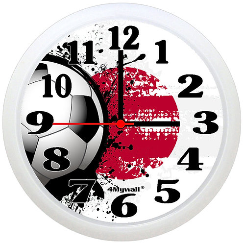 Japan Football Wall Clock