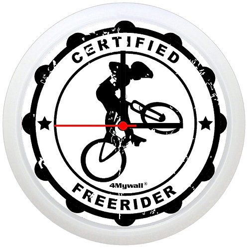 Certified freerider wall clock
