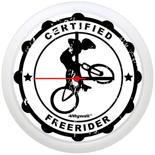 Certified freerider wall clock