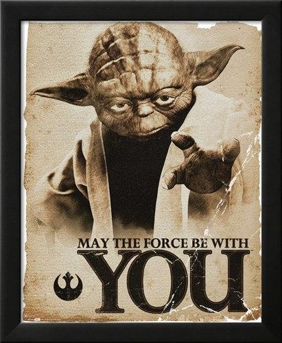 Yoda Force Wall Art
