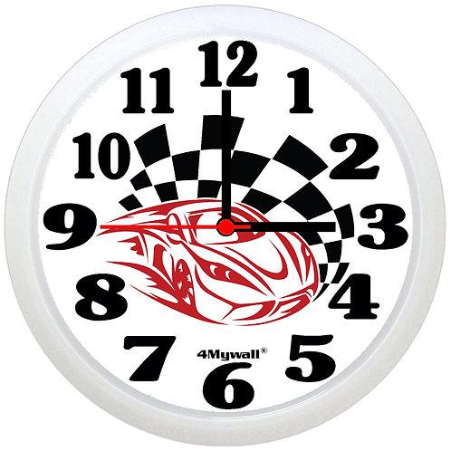 Racing car wall clock