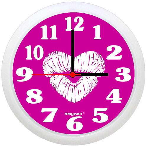 Kiss print wall clock
