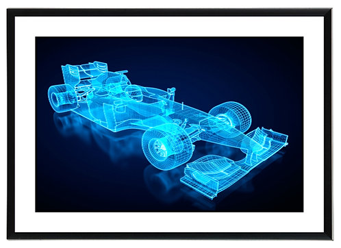 F1 Blueprint Wall Art
