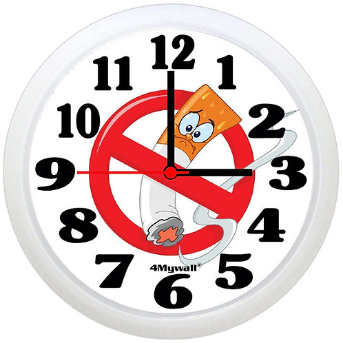 No smoking wall clock