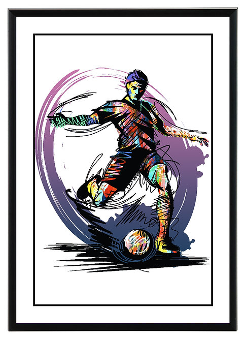 Football Player Wall Art